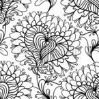Chrysanthèmes Motif Vectoriel Sans Couture