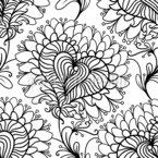 Chrysanthemums Repeating Pattern