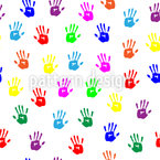 Children Handprints Design Pattern