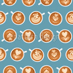 Coffee Art Cups Seamless Vector Pattern Design