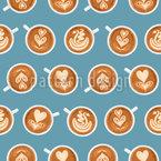 Kaffeekunst Tassen Nahtloses Muster