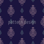 Floral Art Deco Repeat Pattern
