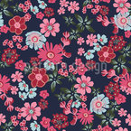 Romantic Floral Seamless Vector Pattern Design