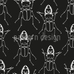 Stag Beetle Seamless Vector Pattern Design