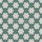 Mystische Pentagramme Rapportiertes Design