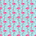Exotic Flamingo Repeat Pattern