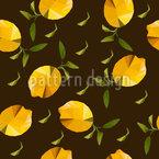 Polygon Origami Lemons Seamless Vector Pattern Design