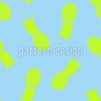 Neon Pineapple Seamless Vector Pattern