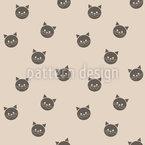 Chats Géométriques Motif Vectoriel Sans Couture