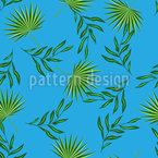 Tropische Blätter Unter blauem Himmel Rapport