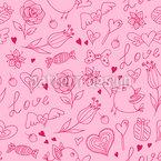 Happy Valentine Seamless Vector Pattern Design