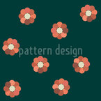 Simple Circle Blossom Seamless Pattern