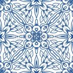 Cristales de nieve anclados Estampado Vectorial Sin Costura