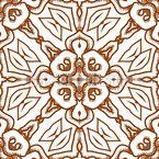 Verankerte Ethnoblüten Vektor Ornament