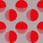 Semicircles With Lace Seamless Vector Pattern Design