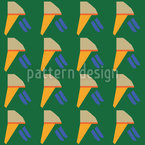 Cool Wind On Summer Ice Cream Seamless Vector Pattern Design