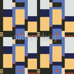 Bauhaus Blocks Vector Pattern