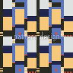 Bauhaus Blöcke Nahtloses Vektormuster