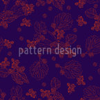 Blackberry Seamless Vector Pattern Design