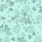 Blackberry Dream Seamless Vector Pattern Design