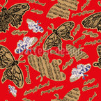 Musically Butterfly Seamless Vector Pattern Design