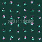 Dimensões do Cristal Design de padrão vetorial sem costura