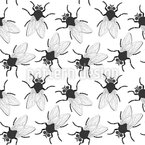Krabbel Fliegen Nahtloses Vektormuster