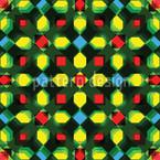 Kristall Zentral Nahtloses Vektormuster