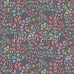 Night Flower Field Seamless Vector Pattern Design