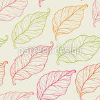 Falling Leaves In Autumn Pattern Design