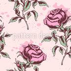 Rosen Für Die Liebe Nahtloses Vektormuster