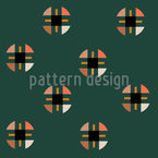 Geometric Circles Seamless Vector Pattern Design