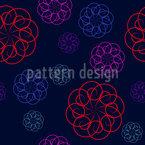 Ringelblumen bei Nacht Nahtloses Vektormuster