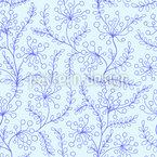 Flores e Folhas Geladas Design de padrão vetorial sem costura