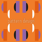 Magnetic Shapes Seamless Vector Pattern Design