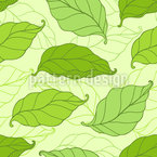 Falling Spring Leaves Seamless Vector Pattern Design