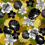 Camouflage-Blumen Musterdesign