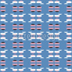 Hovercrafts And Shapes Seamless Vector Pattern Design