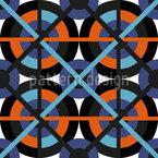 Vernetzte Räder Nahtloses Muster