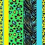 動物性ストライプ シームレスなベクトルパターン設計