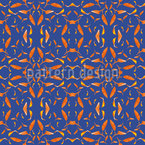 Kaleidoscope Leaves Seamless Vector Pattern Design