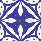 Faces Or Petals Seamless Vector Pattern Design