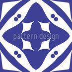 Telhas cruzadas Design de padrão vetorial sem costura