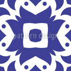 Flores do Fogo Oriental Design de padrão vetorial sem costura