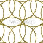 Encontro de círculos Design de padrão vetorial sem costura