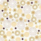 Fleurs de Nuit Arabique Motif Vectoriel Sans Couture