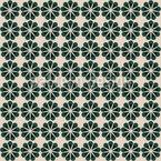 Geometrisches Blumenparadies Nahtloses Muster