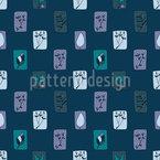 Der Garten Bei Nacht Muster Design