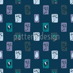 The Garden By Night Seamless Vector Pattern Design