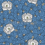 Pansies And Peonies Seamless Vector Pattern Design